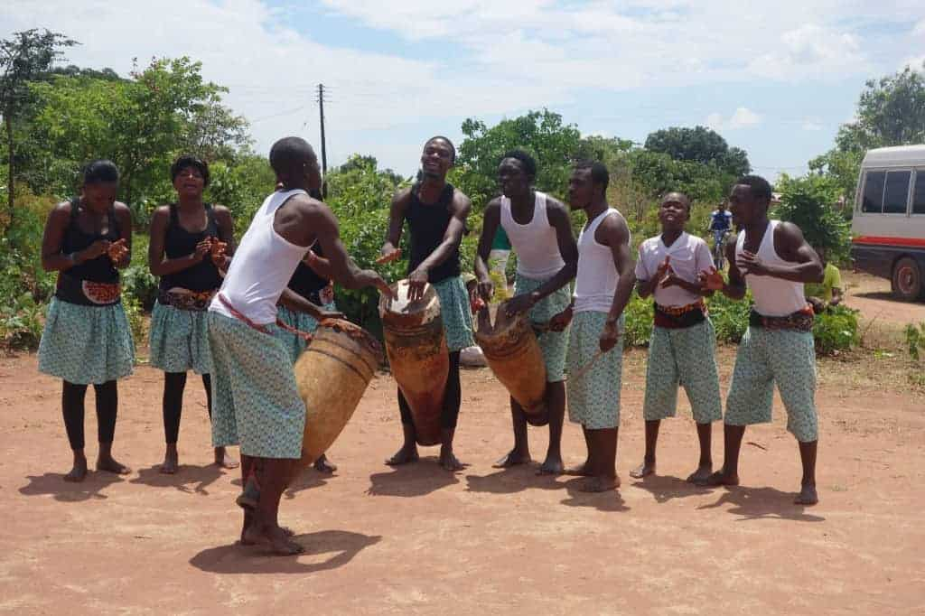 The Kasama Arts Theatre Dance and Drama Group at a Community Day