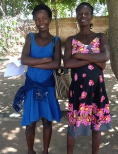 Mapalo Mungwele (left) and her mother